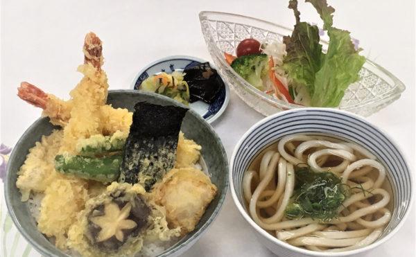 天丼御膳(うどん付)